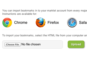 Import Your Bookmarks